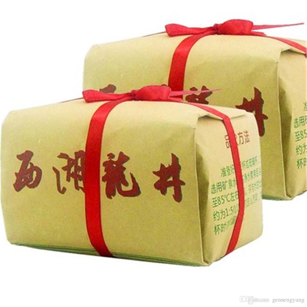 chá verde orgânico 500g chinês West Lake Longjing Dragão bem chá cru saudável nova Primavera chá verde Food Factory Vendas Diretas pacote do presente