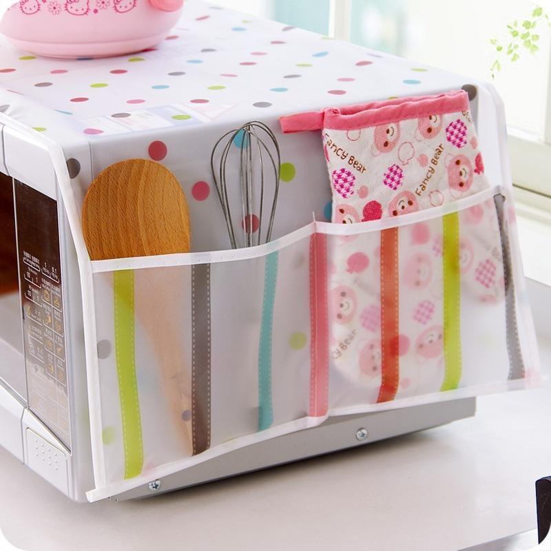 Exquisite Mikrowellenofen-Abdeckung mit 2 Taschen Wasserdichte Pergament Ofen Abdeckung Andere Haushalts-Reinigungs-Werkzeuge Zubehör