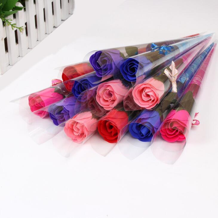 Wedding ile romantik Karanfil Ve Güller Sabun Çiçek Yaratıcı Sevgililer Hediye Anneler Günü Hediyeleri Bugün 'için Rose sabunları çiçek Yana
