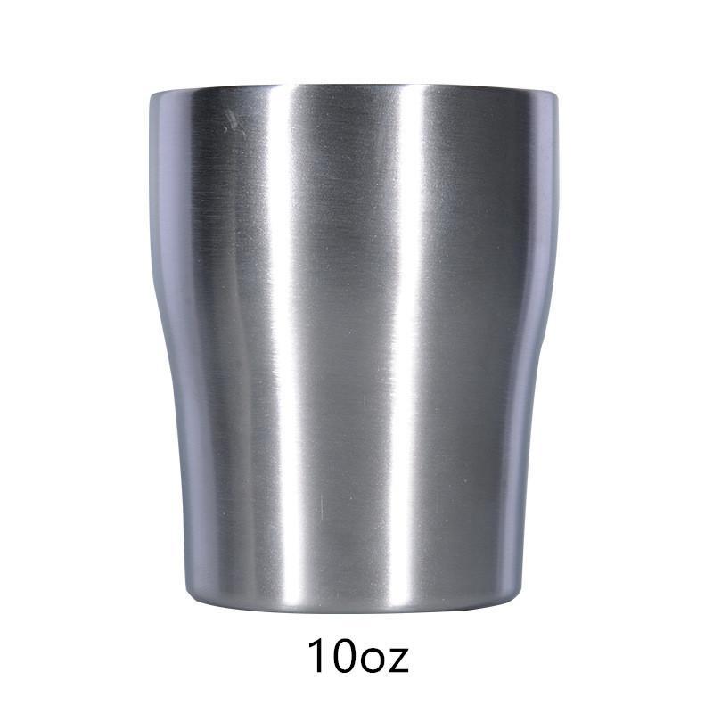커피 뚜껑 10온스 곡선 텀블러 현대 커브 컵 곡선 물 머그잔 더블 레이어 스테인레스 스틸 병