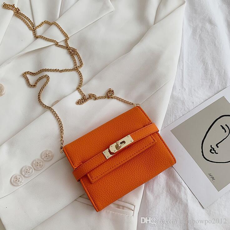 wholesale women handbag Street trend leather chain bag fashion multi-functional leather short wallet multi Card Leather Fashion Wallet