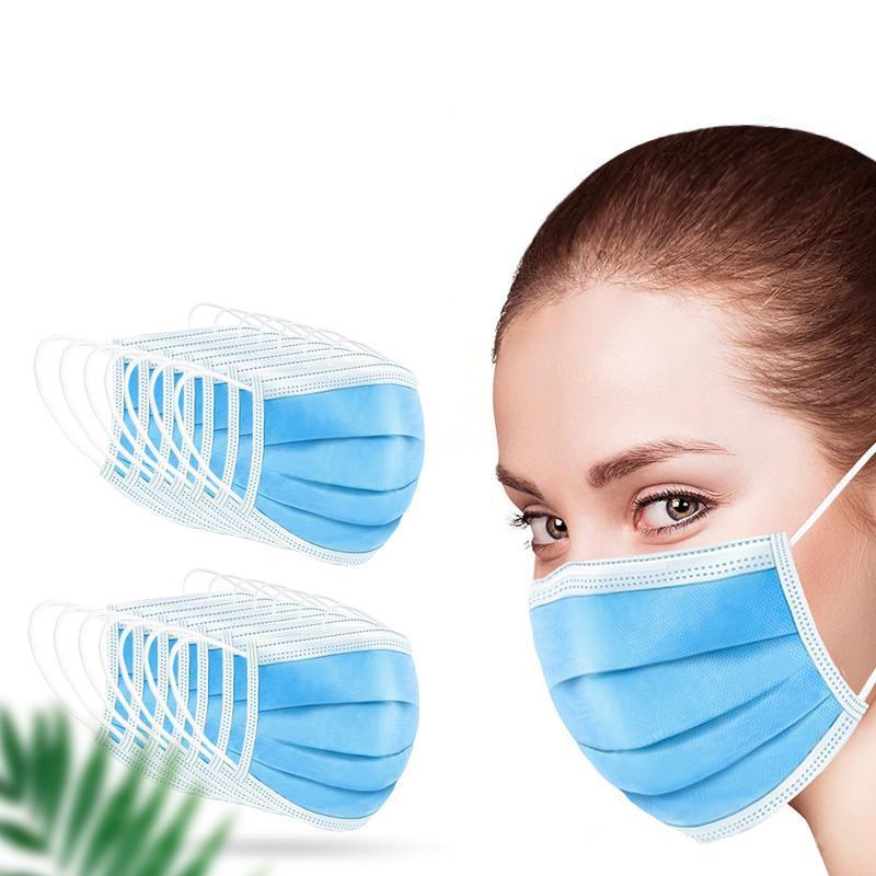 Masque 3 couche Oreille Masques boucle poussière Bouche er 3 Masque Ply non tissé poussière souple respirante extérieur Partie En stock # 753