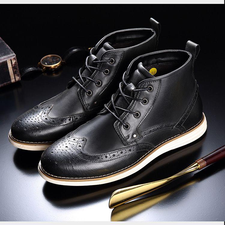 Luxo Homens Martin Botas Austrália Inverno Sapatinho desenhista do couro sapatos de amarrar Botim Alpercatas Platform Homens Sneakers Negócios