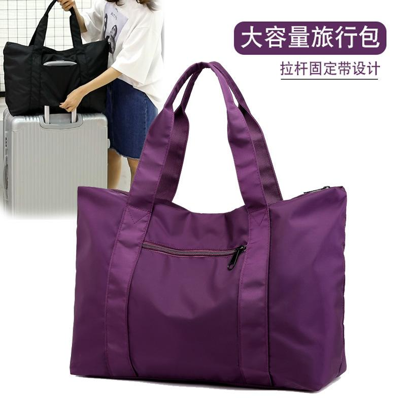 Pull Rod Leisure Time Waterproof Nylon Women's Travelling Bag Portable Will Capacity Short Luggage Mommy Package