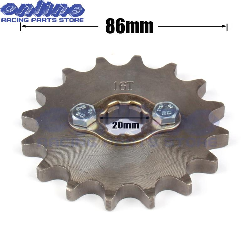 13 TOOTH 20MM FRONT ENGINE SPROCKET FOR PIT BIKE AND ATVS WITH 530 CHAIN