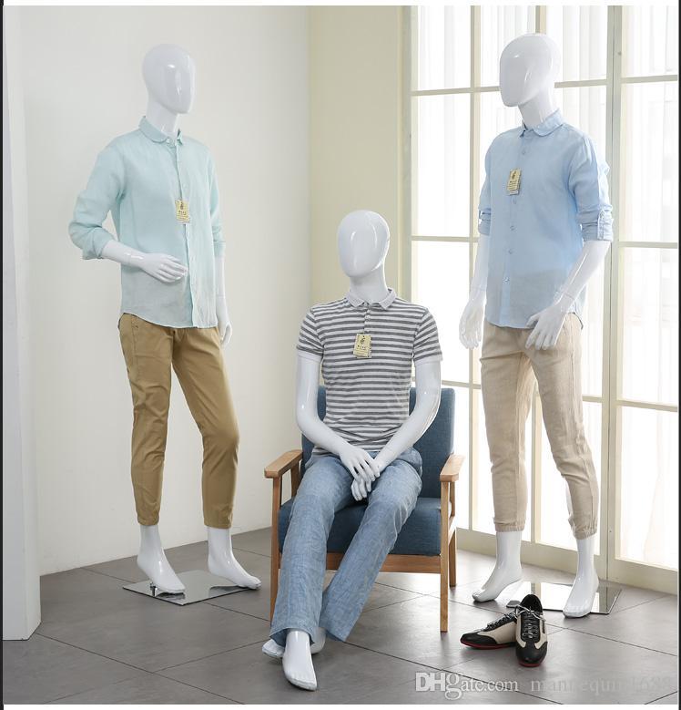 Venta directa directa de la fábrica del maniquí masculino del lustre de la fibra de vidrio del estilo de la moda en la promoción
