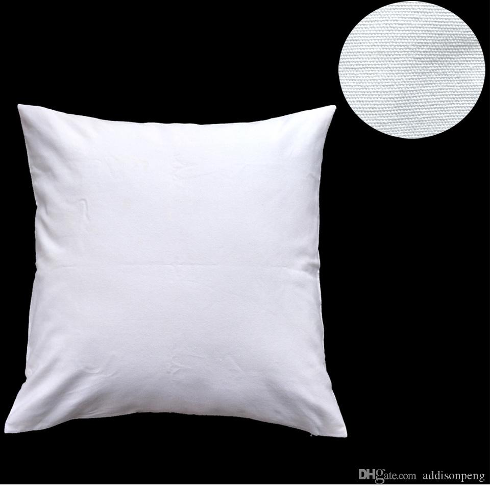 1 adet Herhangi Bir Boyut boş beyaz / ham beyaz / doğal 8 oz saf pamuk kanvas yastık örtüsü için DIY boya / baskı için düz pamuk kanvas yastık örtüsü DIY