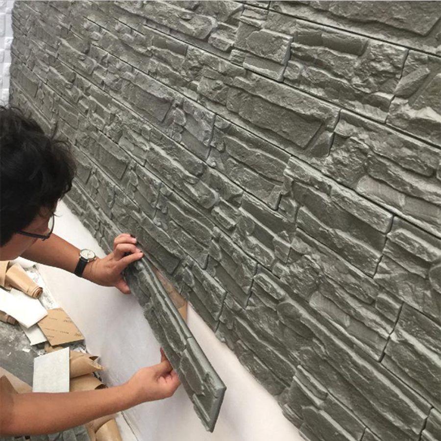 Pannelli murali 3D per soggiorno Carte da parati in pietra 3D per camera dei bambini Camera da letto Decorazioni per la casa Carta da parati autoadesiva impermeabile 3D