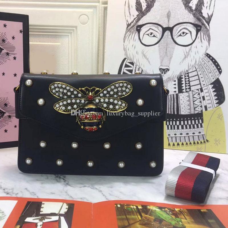 Joya pequeña abeja del diseñador del bolso de las mujeres bolsa de mensajero de la manera de la marca de Desinger señora pendiente de cuero del bolso de las mujeres bolsas de alta calidad