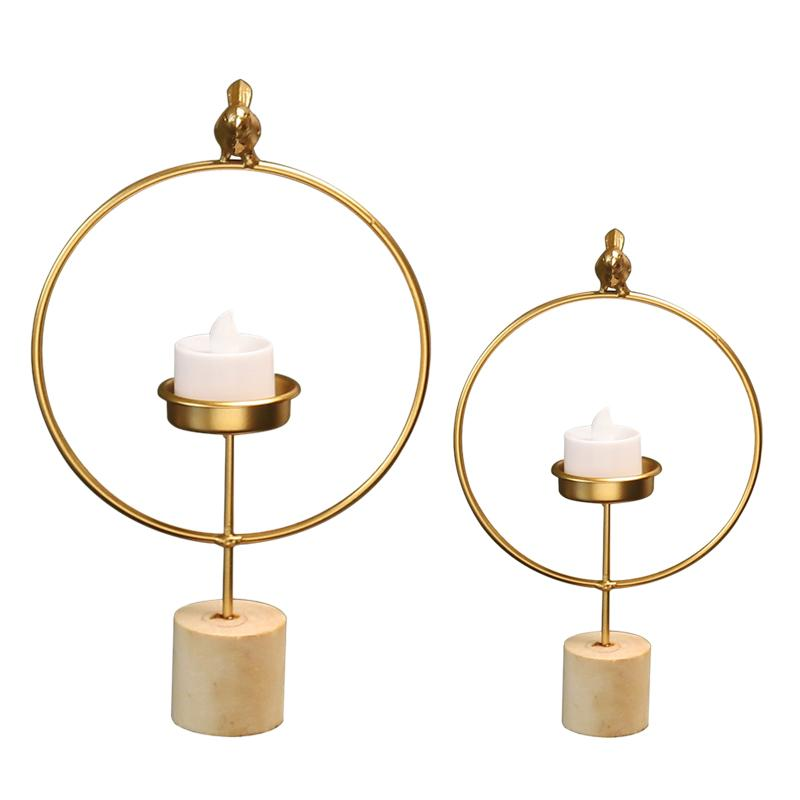 3D Geometric Candlestick Metal Wall Candle Holder Sconce Home Decor Nordic Style Hot