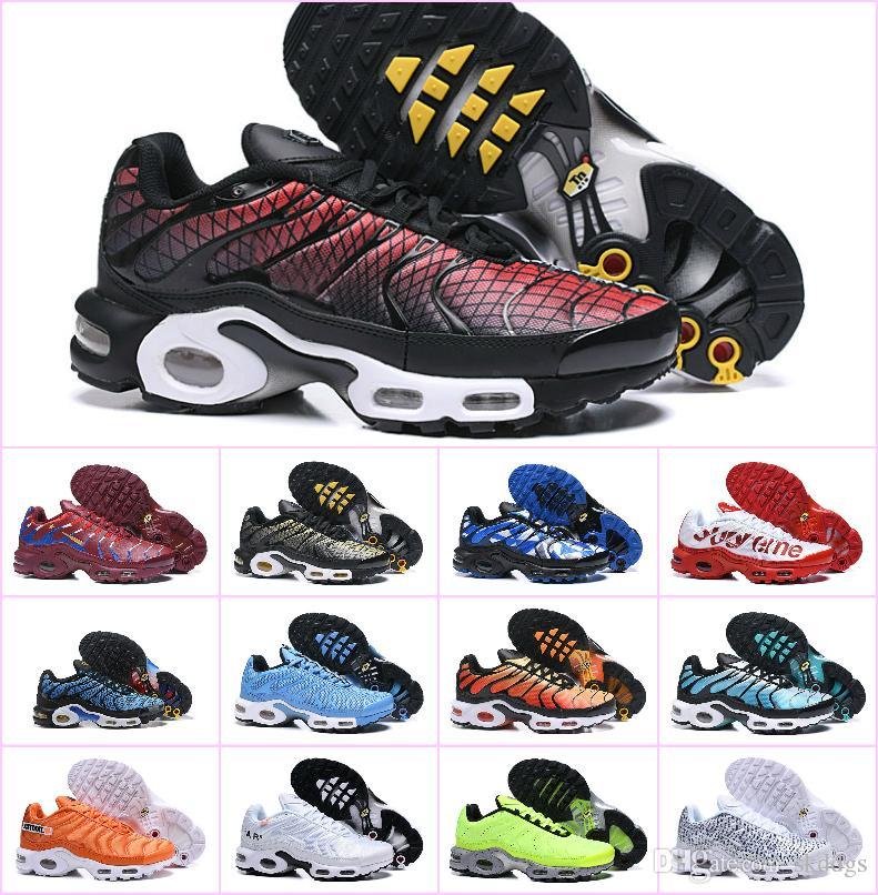 Barato 2019 Original TN Hombre SHOE AIR ULTRA PLUS TN ZAPATOS de malla transpirable de calidad superior Chaussures Homme TN Requin Sports Sneakers