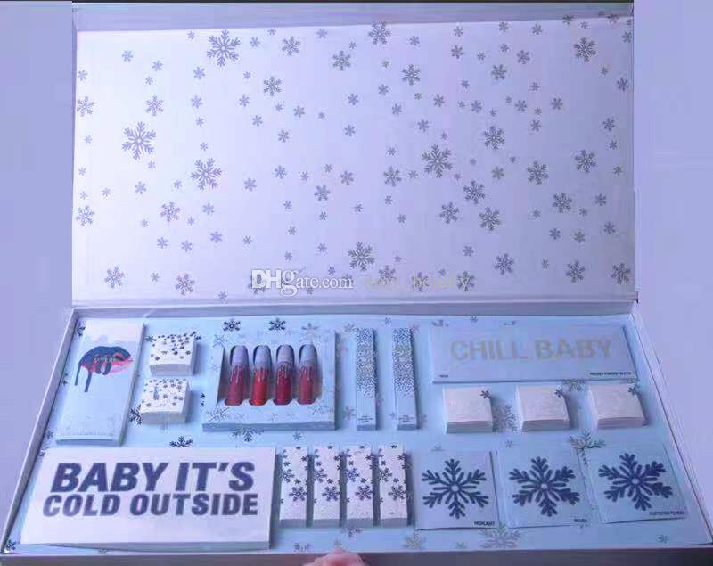 Новейшие наборы для макияжа Kristmas The Holiday Collection Жидкая матовая помада для губ Набор для теней для век Рождественский подарок