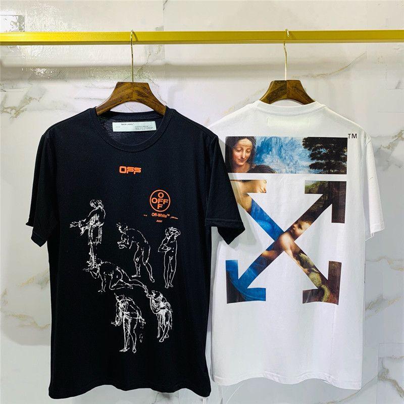 2020 nuevos hombres de la moda camiseta de moda impresa camisa de los hombres de manga corta artística juventud camiseta de buena calidad de gran marca de manga corta Q30