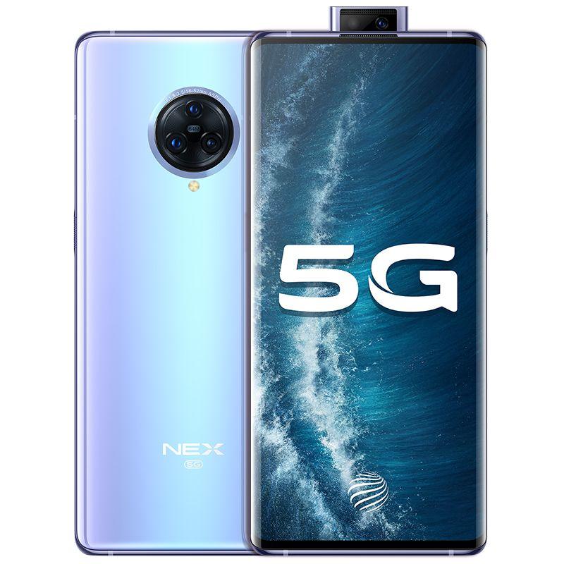 "Original VIVO Nex 3S 5G Mobile Phone 12GB RAM 256GB ROM Snapdragon 865 Octa Core 64.0MP NFC Android 6.89"" AMOLED Full Screen Fingerprint ID 4500mAh Smart Cell Phone"