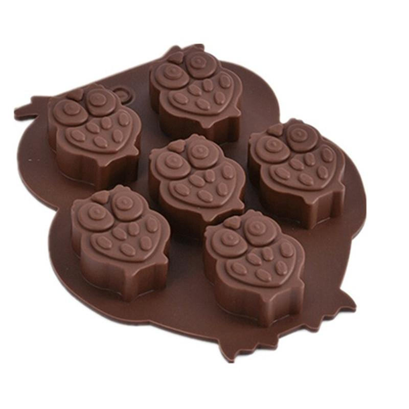 Alta qualità Lovable Gufo a forma di silicone torta stampo al cioccolato muffa fai da te cubetto di ghiaccio cubo di ghiaccio vassoio stampo sapone