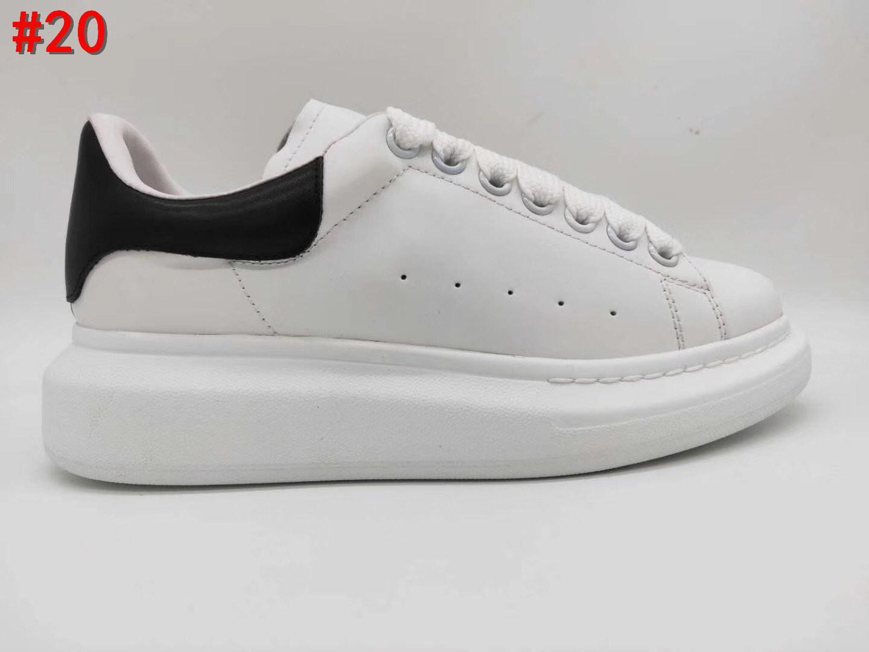 Oversized sapatilha Homens Mulheres Plano sapatilhas desenhista calça Extra Large couro sola de borracha branca Plataforma Sneakers com caixa Tamanho 35-45