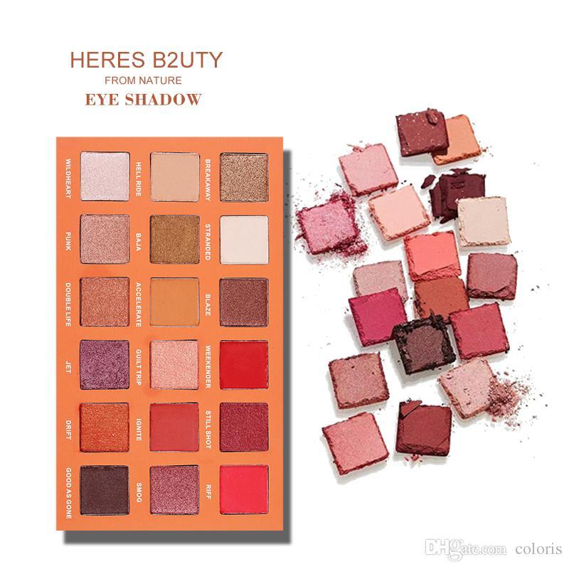 HERES B2UTY Mgaic Sunset Eyeshadow Palette 18 Color Eyeshadow Glitter Shimmer Hight Pigment Makeup Nude Eyeshadow Palette