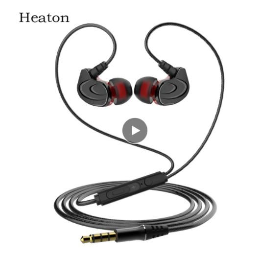 lower price wire earphones in-ear metal sports music phone earphone extra bass straight line PC subwoofer headset with Mic