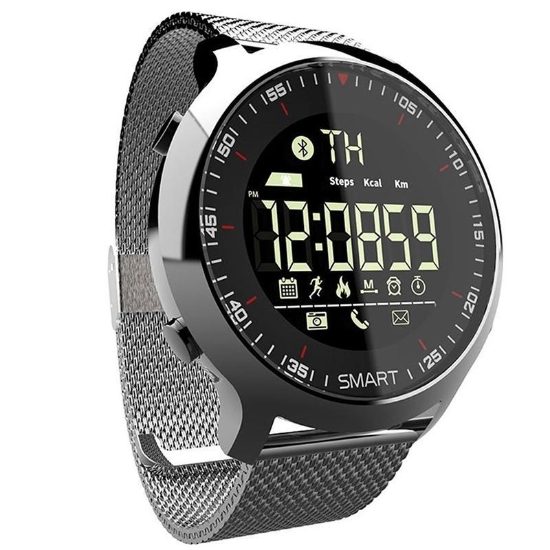 Orologio da polso IP68 Impermeabile 5atm Pedometro Messaggio Promemoria Lungo Standby Time Backlight Fitness Tracker Braccialetto da polso Braccialetto Smart Orologio
