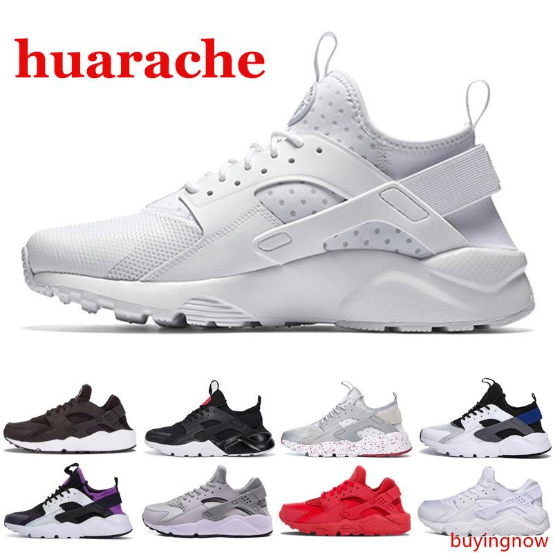 Nouveau 2020 Hommes Femmes Huarache 1 4,0 Chaussures de course triple Huaraches noir blanc rouge chaussures de sport ultra BR décontracté en plein air 36-45