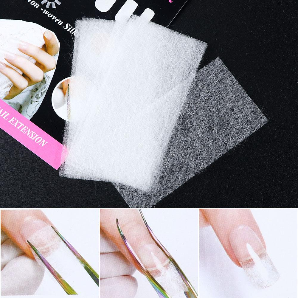 Form 10pcs/Set Nail Extensions Non-woven Silks Nail Art From Building Tips Fiberglass UV Gel Acrylic Manicure Tool Accessories TR1507
