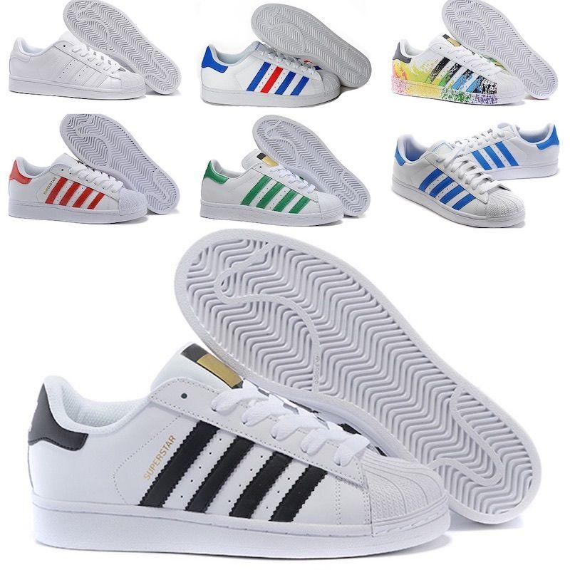 Adidas Superstar Süper Yıldız Beyaz Rahat Ayakkabılar Hologram rridescent Genç Süperstar Gurur Kadın Erkek Eğitmenler Süperstar ayakkabı boyutu 36-45