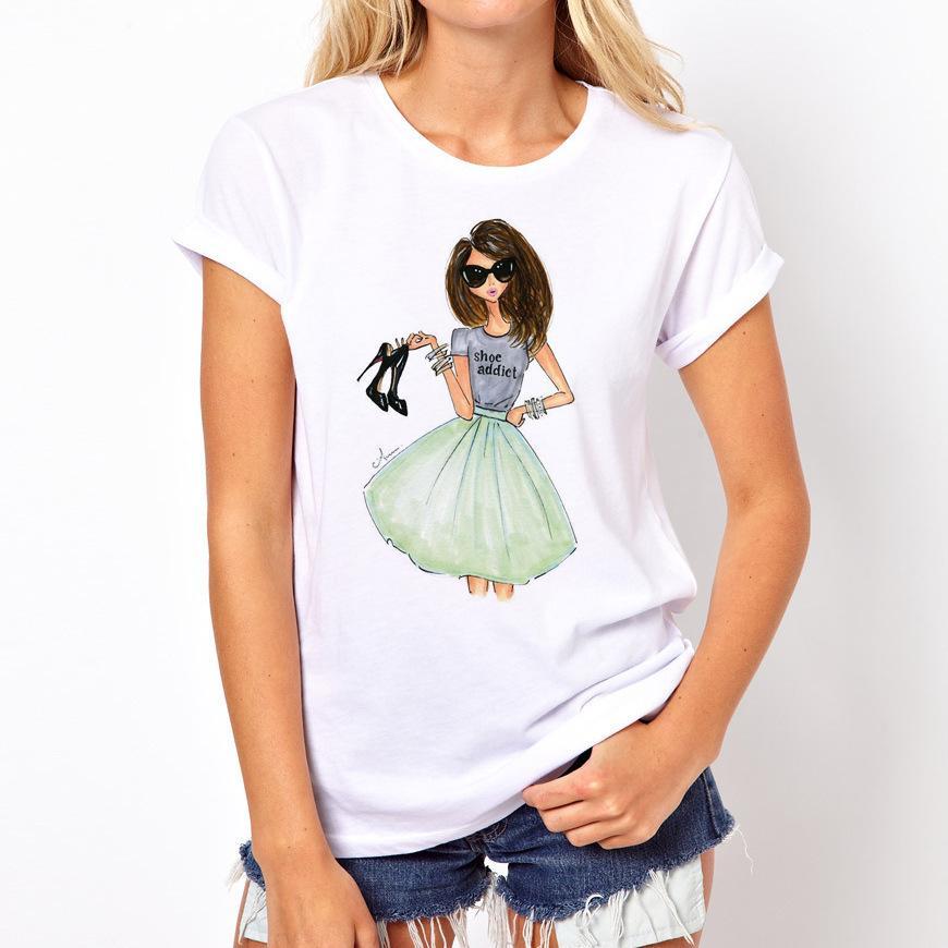 Lady print T-shirt 2020 de haute qualité nouvelle mode d'été T-shirt drôle T-shirts manches courtes Harajuku T-shirts occasionnels tops lovrly