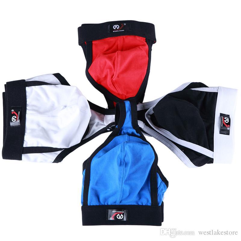 Sexy Men's Thongs Cotton Underwear Men G-Strings Male U Convex Pouch Breathable Low-Rise Lingeries underwear HH76