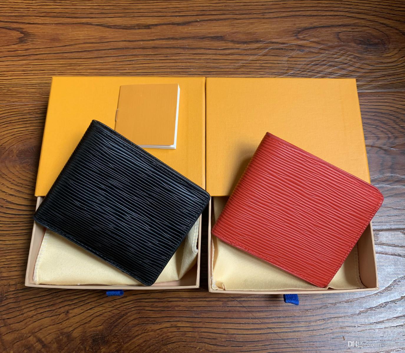 Yüksek kaliteli pu deri moda çapraz cüzdan erkek tasarımcı kart cüzdan cep çanta kutusu ile Avrupa tarzı marka çantalar 60895