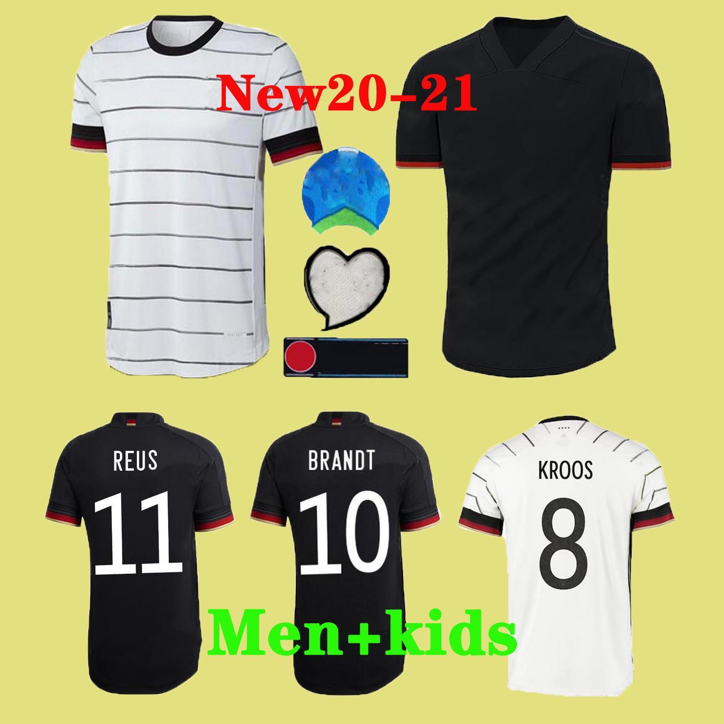 2020 Almanya Euro Futbol Forma REUS Ev kiti Hummels Kroos MULLER Götze Futbol Gömlek HAVERTZ Mens Jersey Çocuk kiti