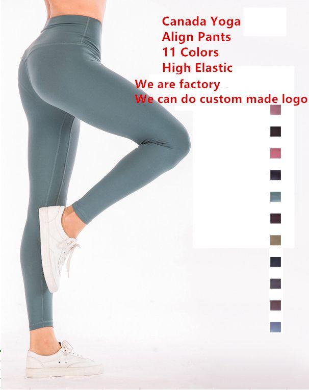 11 Alinhamento de cores Pants Mulheres Canadá Yoga Marca Designer Leggings Sexy Lady corredor da ginástica joggings Calças de Fitness Sports Leggings 5010