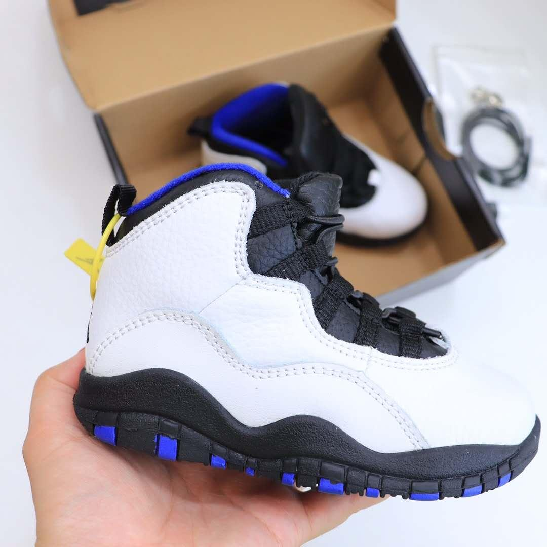 Kids Children Shoes Jam 10s Seattle White Black Kelly Green Basketball Shoes True Red Boys Girls Chicago Tinker sports Sneakers