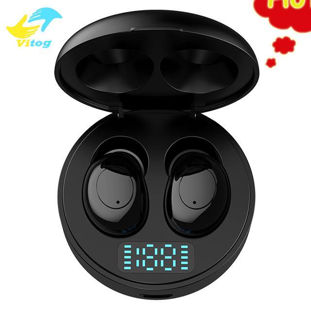 Tws 5,0 Bluetooth Vitog auriculares deportivos auriculares inalámbricos Mini auriculares P06 auriculares con pantallas de potencia Led en la oreja los auriculares