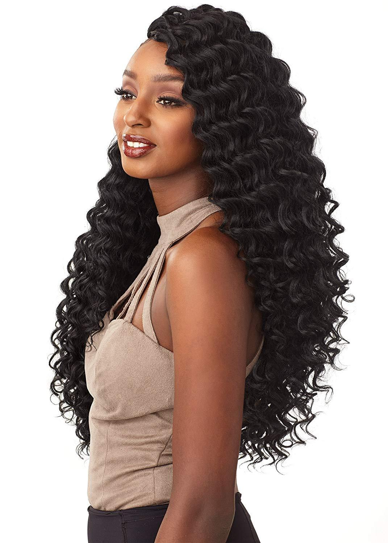 Hot! 20inch 80g/pcs Freetress Synthetic Hair Crochet Braids Deep Twist Ombre Deep Wave Braiding Hair Extensions for Black/White Women