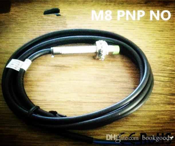 Freeshipping M8 silindirli çıkıntılı PNP NO DC 3 teller yakınlık endüktif algılayıcı yakınlık anahtarı metal sensörü HLM8-3002PA