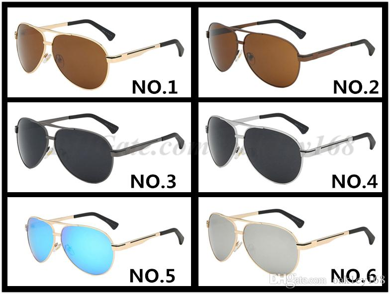 الموضة الجديدة نظارات شمسية UV400 جودة عالية الكلاسيكية التجريبية مرآة النظارات الشمسية النظارات الشمسية 737 معدن الرجال والنساء مصمم