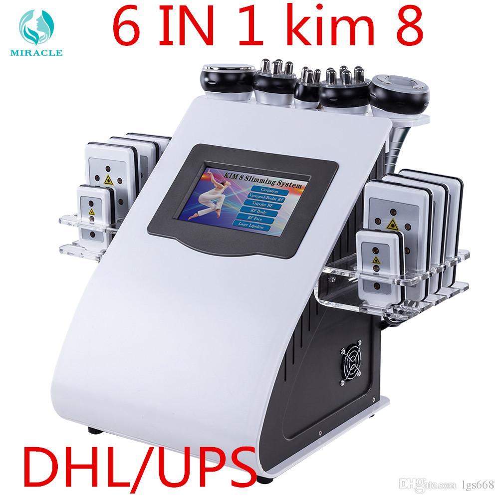 6 في 1 كيم 8 نظام التخسيس شفهية فراغ بالموجات فوق الصوتية آلة التخسيس
