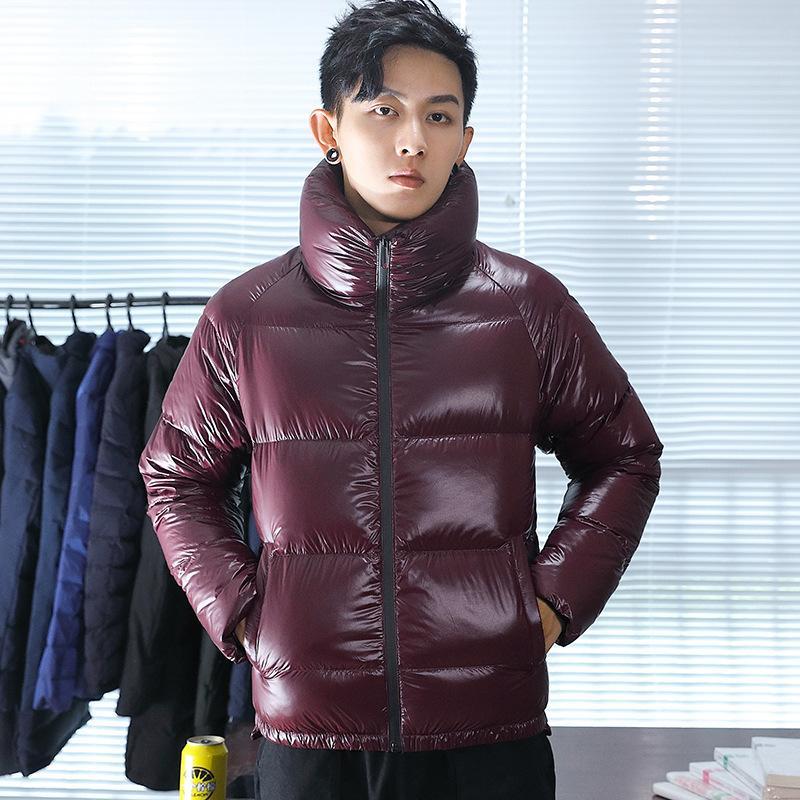 il progettista del mens Piumino corto inverno luminoso bel viso fashion brand ispessita collo alto UBIP cappotto