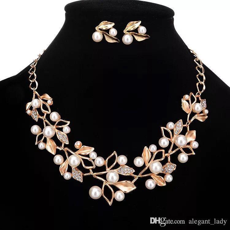 Vintage sparkly Gelin Takı Seti kaplama kolye elmas küpe gelin nedime kadınlar için Düğün takı setleri Gelin Aksesuarları