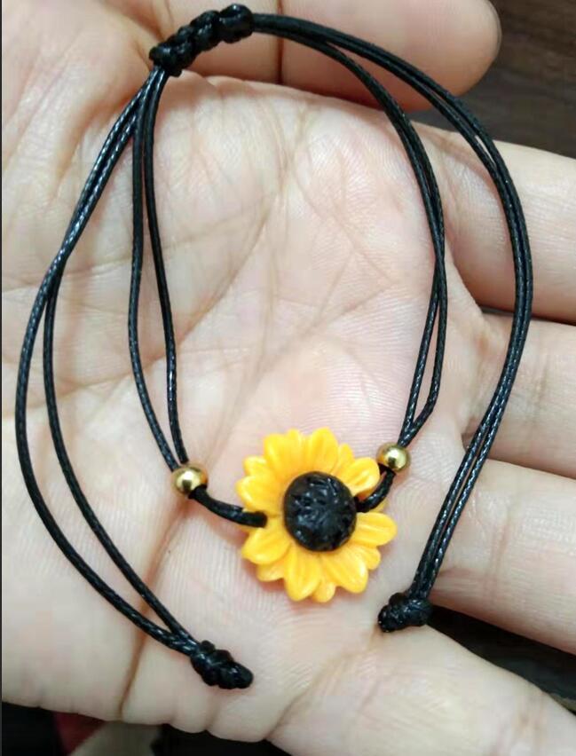 margherite Gerbera La signora della moda piccolo braccialetto di girasole freschi di alta qualità del commercio all'ingrosso di gioielli