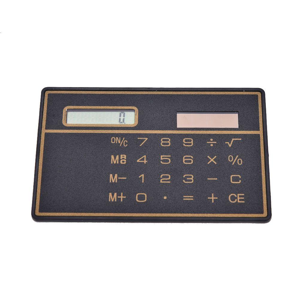 Mini calculadora de tarjeta de crédito de energía solar calculadora de bolsillo contador calculadora