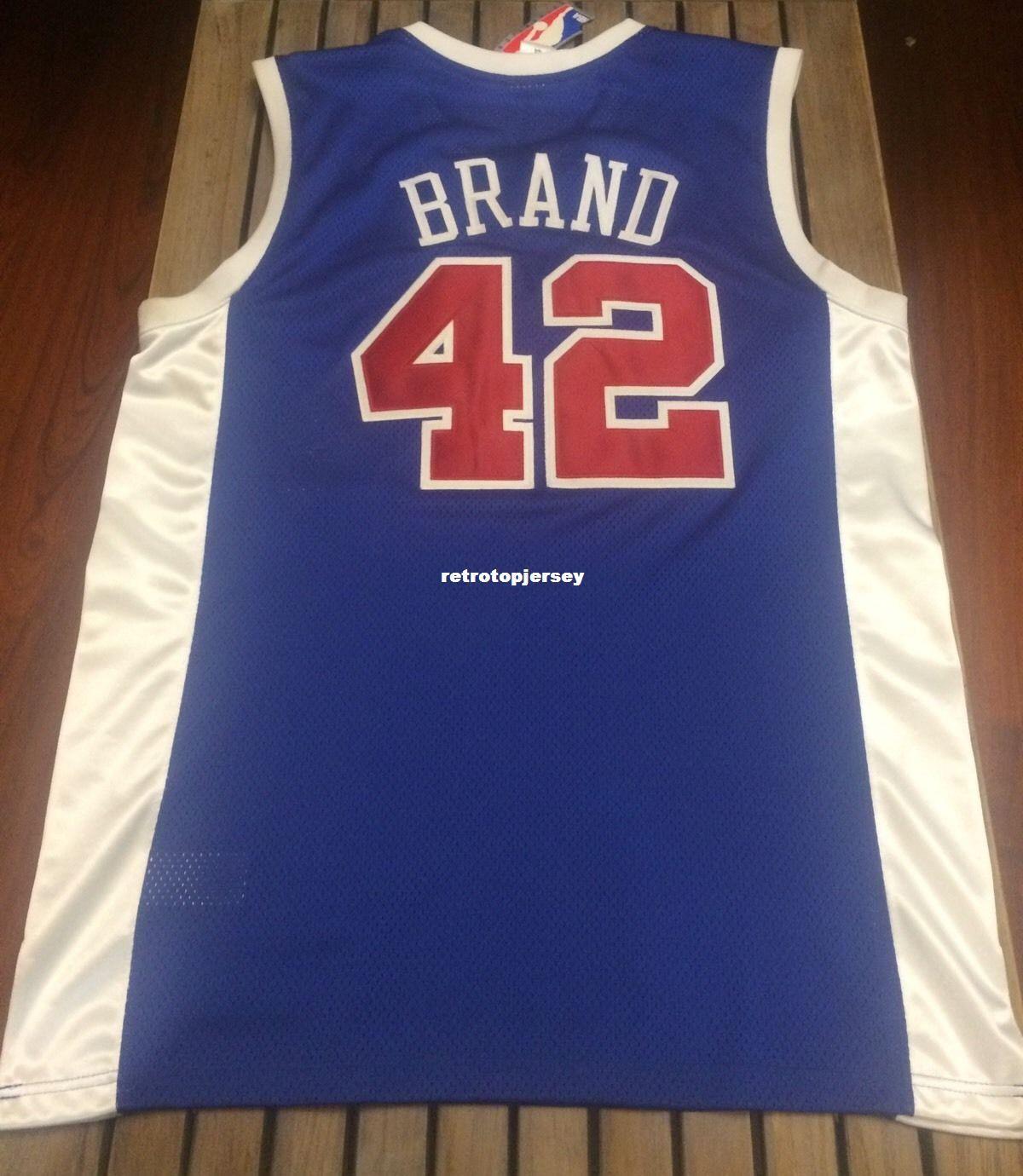 Günstige Großhandel Elton Brand Jersey Blau Nwt RB # 42 T-Shirt Weste genäht Basketball Trikots Ncaa