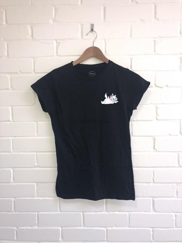 Die Aristocats Marie Die Katze T-Shirt T-S-3XL BNWT Schwarz Womanrsquos Frauen der Männer T Hoodie Kostenloser Versand