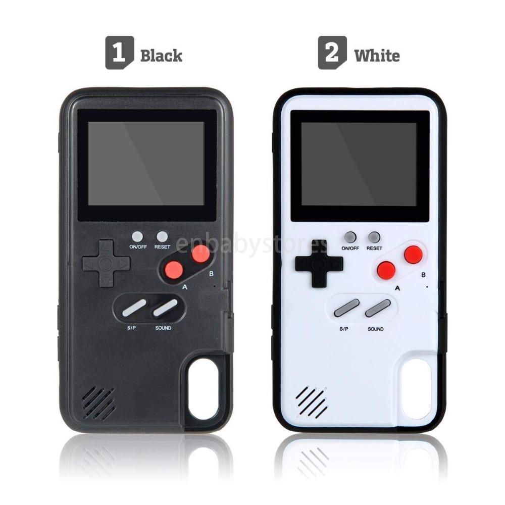 컬러 디스플레이는 전체 게임 보이 전화 케이스 아이폰 7 8 6 기가를 3D 플러스 X 클래식 레트로 테트리스 게임 커버를 들어 아이폰 X가 최대 XR Coque