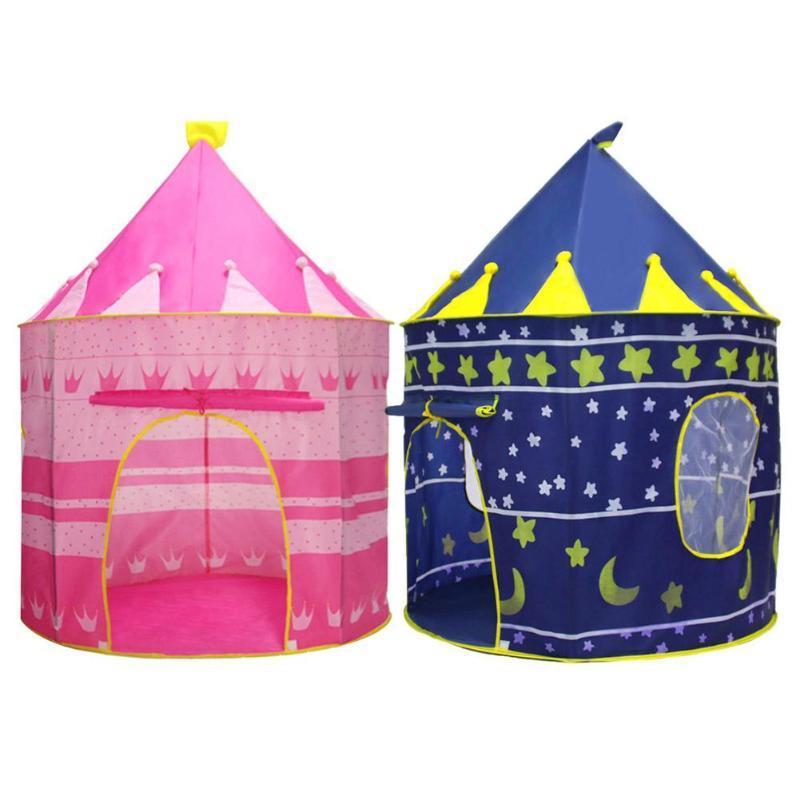 Портативный Детская палатка Игрушка Установить Принц Pricess Складные Детские Играть Дети Замок Детские Play Палатка Портативный складной Принц Принцесса Tent