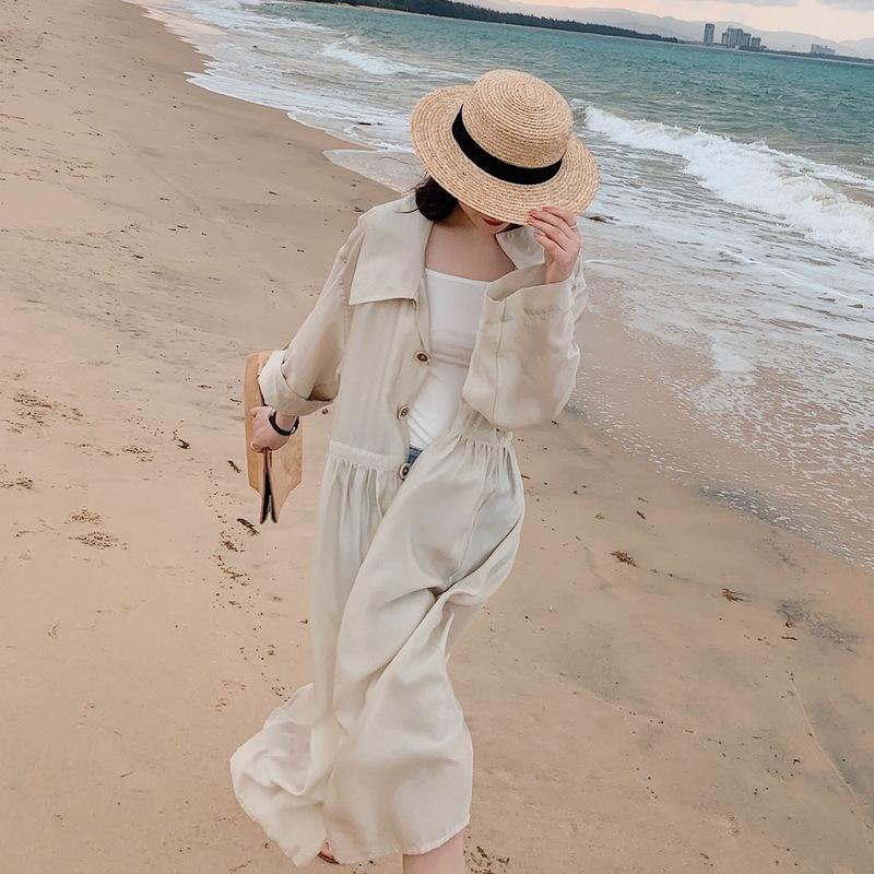Реальный стиль фото праздник длинный кардиган пальто новый модный женский ретро шик ВС доказательство свитер летом 2020