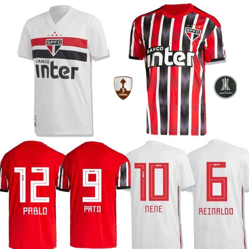 Acquista 19 20 Sao Paulo Home Maglia Di Calcio Souza Helinho Peres Everton Hernanes 2019 2020 Camisa De Futebol Sao Paulo Away Maglie Di Calcio A ...