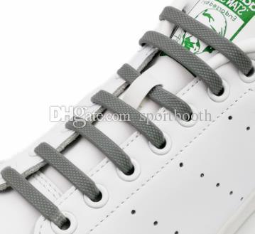16pcs / pack Silicone No Tie Shoelaces Chaussures Accessoires lacet élastique Lacet Creative Paresseux Silicone Lacets Caoutchouc Dentelle 12 couleurs