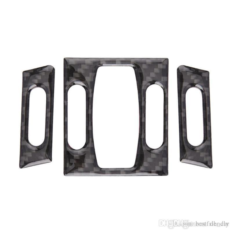Fashion Design Car Interior Accessories Carbon Fiber Front Air Conditioner A/C Outlet Vent Car Sticker Trim for BMW E60 5 Series 2004-2010