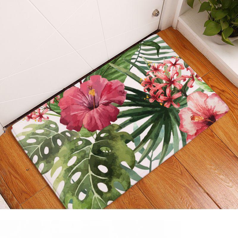8 entwirft tropischen Teppich für Bad Küche Wohnzimmer Regenwald Eingang Fußmatte Dschungel Tukan Papagei Pfau Flamingo-Teppich